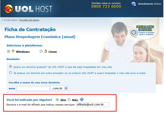 indicação UOL Host